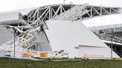 Brésil: l'effondrement d'un stade de la Coupe du monde à Sao Paulo fait deux