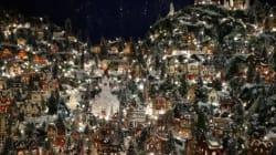 Ce village de Noël miniature est