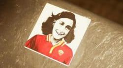 Anna Frank con la maglia giallorossa: