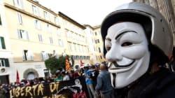 Movimenti per la casa e migranti in piazza a Roma nel giorno dei
