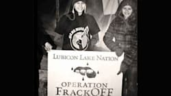 Northern Alberta Anti-Fracking Blockade Taken