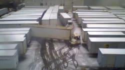 À Noël, le parking d'un entrepôt UPS, c'est