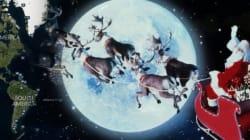 Le père Noël escorté par des militaires de