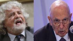Grillo e Napolitano. Stessa ora, reti
