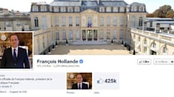 Hollande renoue avec Twitter et Facebook en