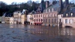Impressionnantes inondations en
