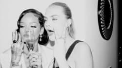 Rihanna et Cara Delevingne ont passé un super réveillon