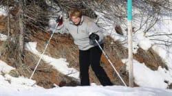 Merkel cade facendo sci di