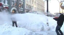 WATCH: Winter Water Gun Fight Looks