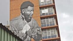Madiba gigante a Johannesburg