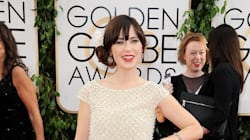 Zooey Deschanel Finds Her Bangs At The Golden