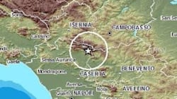 Terremoto tra Campania e Molise, magnitudo