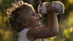 Bambini che sussurrano agli animali