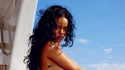 Rihanna. Topless. On A