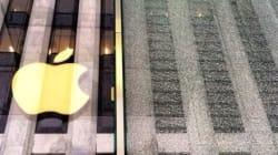 A New York la neve incrina il cubo della Apple