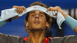Les larmes de Nadal pendant sa défaite en finale de l'Open