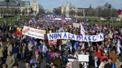 Manif pour tous : des milliers de manifestants défilent à