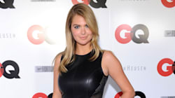 Kate Upton In A Sexy Leather