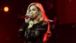 Beyonce Rocks Super Sheer Dress