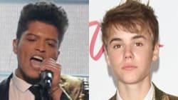 Bruno Mars Channels Justin Bieber At Super