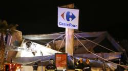 200 m2 de toiture s'effondrent à l'entrée d'un Carrefour : deux blessés