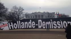 Les anti-Hollande ont fait le voyage jusqu'à