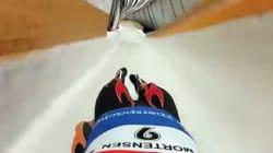リュージュのオリンピック選手がカメラを装着して滑走、爽快な滑りをご覧あれ(動画)