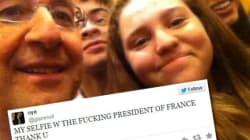 Elle a pris un selfie avec Hollande et a passé un sale quart