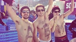 Shirtless Winter Olympians. Hell