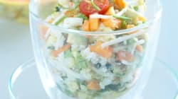 Salade de crabe aux fruits
