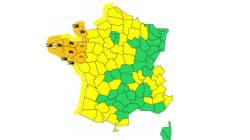 Intempéries : 6 départements du Nord-Ouest en vigilance
