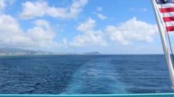 ハワイ写真集-海から眺めるオアフ島ホノルル