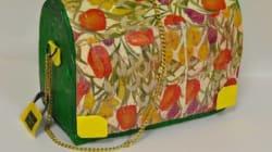 Des sacs plastiques transformés en accessoires de mode