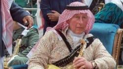 Le prince Charles d'Arabie a fait la danse de l'épée