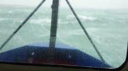 La vidéo impressionnante d'une tempête depuis la cabine d'un