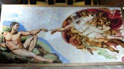 La Chapelle Sixtine reproduite... en guimauves