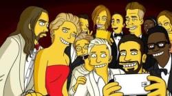 Le créateur des Simpson livre sa version du selfie (et il n'est pas le
