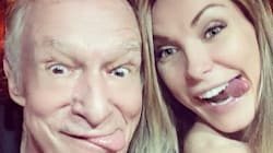 Hugh Hefner And Crystal Harris Share A Sweet Moment On