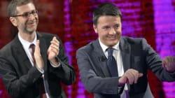 Renzi a Che Tempo Che Fa. Abbraccio tra il premier e Paolo Sorrentino