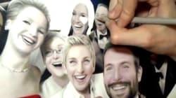 Elle dessine le selfie des Oscars à la