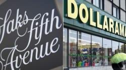 Saks and Dollarama: Canada's Unequal