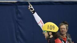 Patinage de vitesse: Charles Hamelin remporte la médaille de bronze au 500
