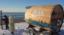 Un sauna mobile pour faire du surf