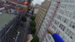 スーパーマンの頭にカメラをつけたらこうなった【動画】
