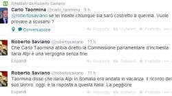 Saviano contro Taormina su twitter: