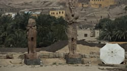 Deux colosses d'Amenhotep III dévoilés en