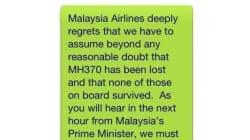 Vol MH370: le SMS aux familles de victimes choque les