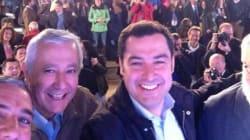 El 'selfie' de Arenas, Moreno y medio Cañete