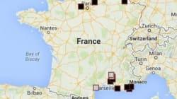La carte de France des villes