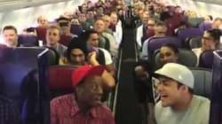 Prendre l'avion avec la troupe du